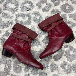 Auditions Wine slouch Vintage Booties size 11